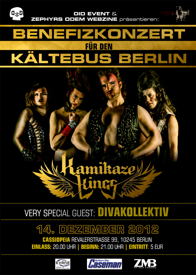 Kamikaze Kings Benefizkonzert Kältebus Berlin