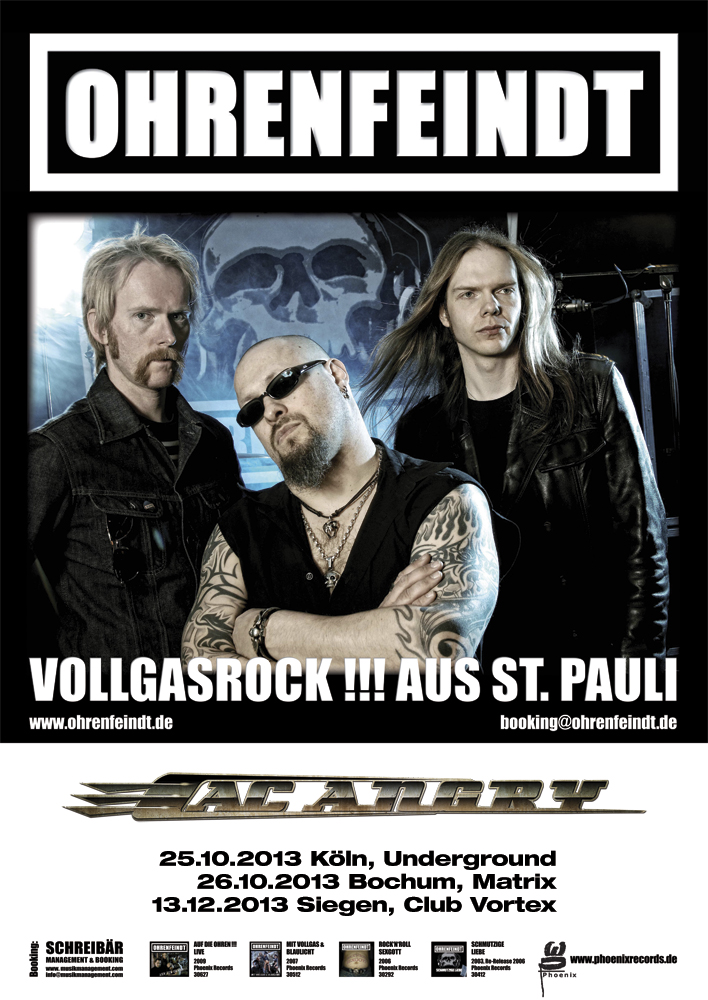 Ohrenfeindt +  AC Angry Tour  2013