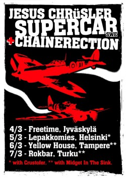 Jesus Chrüsler Supercar + Chainerection | Finland Tour 2015