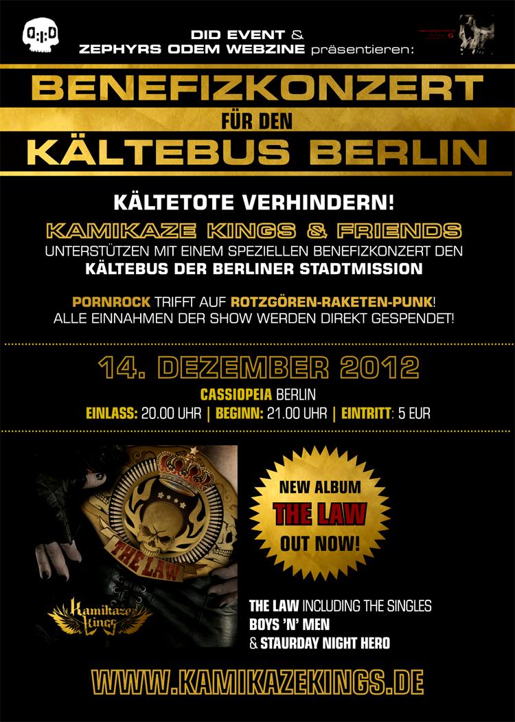 Kamikaze Kings Benefizkonzert Kältebus Berlin