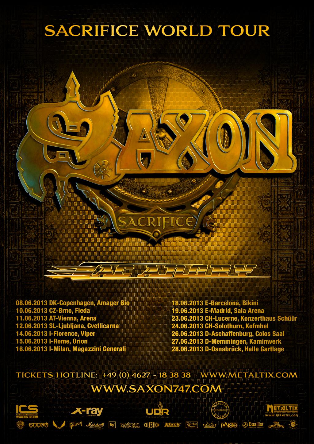 Saxon + AC Angry Europe Tour 2013
