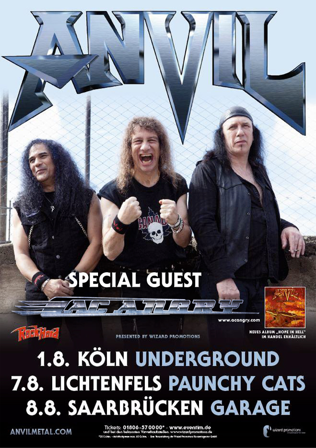 Anvil + AC Angry Germany Tour 2013