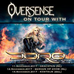 Oversense on tour with Doro 2017