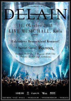 Visionatica | Delain | 11.10.2018 | Live Music Hall | Köln