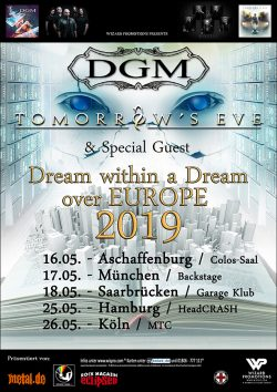 "TOMORROW'S EVE & DGM ""Dream Within A Dream Over Europe"" Tour 2019"