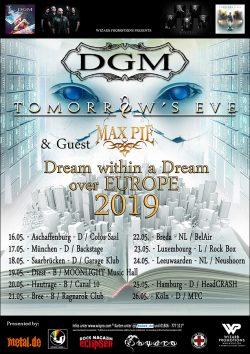 "TOMORROW'S EVE & DGM ""Dream Within A Dream Over Europe"" Tour 2019"